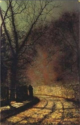 John Atkinson Grimshaw - Lovers in a Wood (1873)