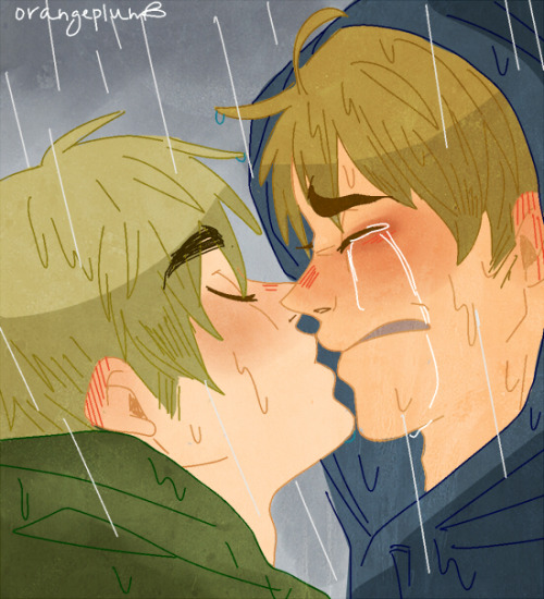 orange-plum:  When Orangeplum is sad she draws sad kisses.