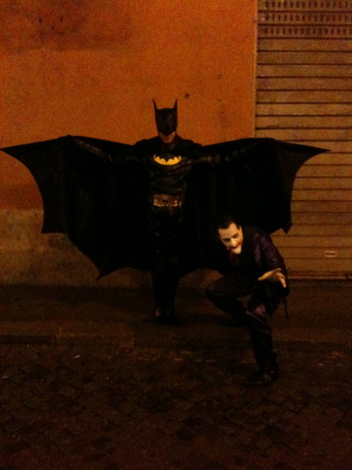 Batman and the Joker just wandering the streets in Rome told me I'd make a good Catwoman.