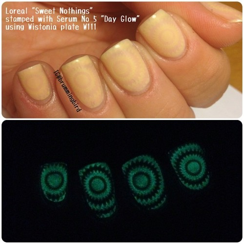 truthteller:  Stamping w/ glow in the dark polish