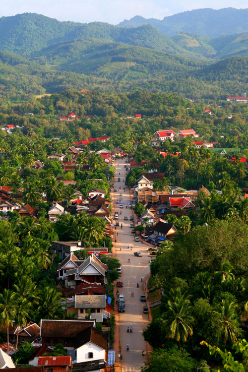 ethereo:  Bird's eye view of Luang Prabang – Laos (by kees straver (will be back online soon friends))