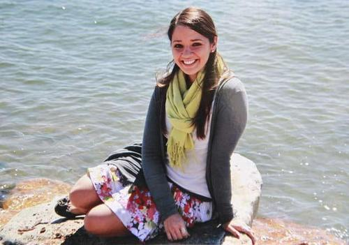 The woman in the photo is Victoria Soto. Soto was killed by Adam Lanza while protecting her students in Newtown, CT during his rampage through their school. She pushed the children into a closet when she was confronted by Lanza. She put herself between the gunman and the children and that's when she was tragically shot and killed. When she became aware there was a gunman in the school, she hid her first-graders in closets and cabinets, then told the shooter they were in the gym. He turned the gun on Soto, killing her, but none of her students were harmed. You are a hero Victoria, and no one will ever forget the amazing thing you did for your students.