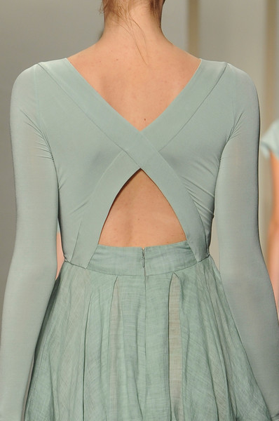 tinaschoices:  Donna Karan Spring 2013 Details   The back detail of this dress would make me never wear a coat with this outfit. It's gorgeous. Simply chic.