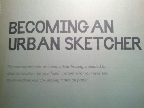 Becoming an Urban Sketcher