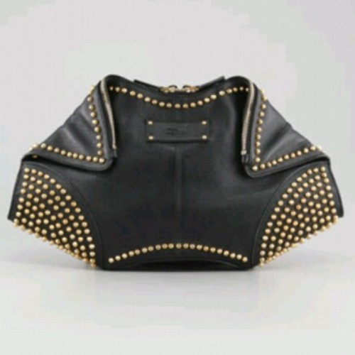 Alexander McQueen Studded De-Manta Leather Clutch $1155 #idie