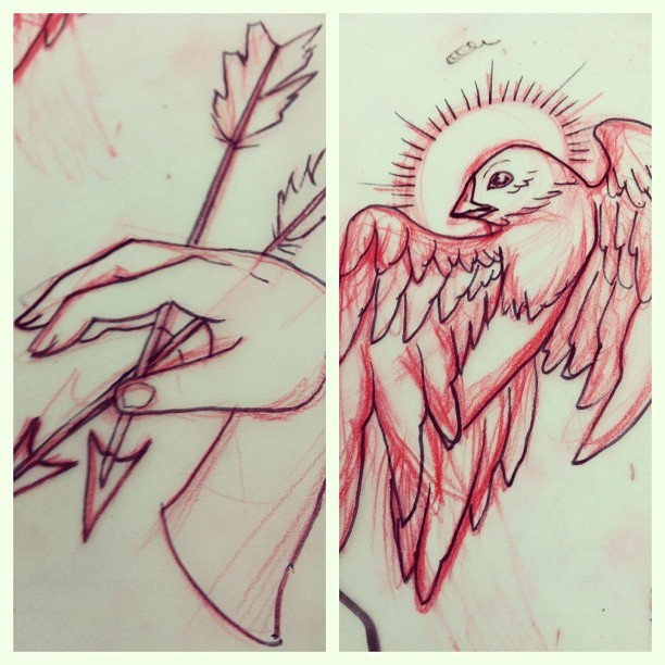 Forever drawing #sketch #draw #art #bird #hand #farts #derp (at Truth & Triumph Tattoo)