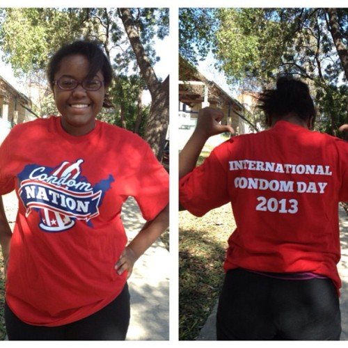 lassyboo:  Now my school is thinking #national #condom #day #cool #shirt #funny  Tomorrow is National Condom Day! Like and reblog if you think condoms are sexy and you support honest sex ed for teens!