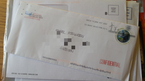This is so exiting! I got mail from NYC!