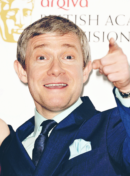 sherunlockedme:  Martin Freeman on May 2013. TV awards. x