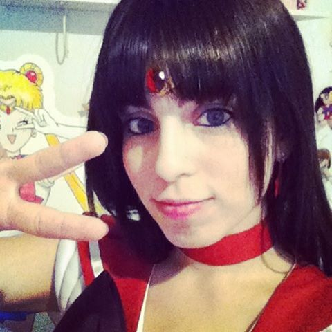 my complete Cosplay, now with black Hair, Tiara und Earrings ^_^ I'm happy <3