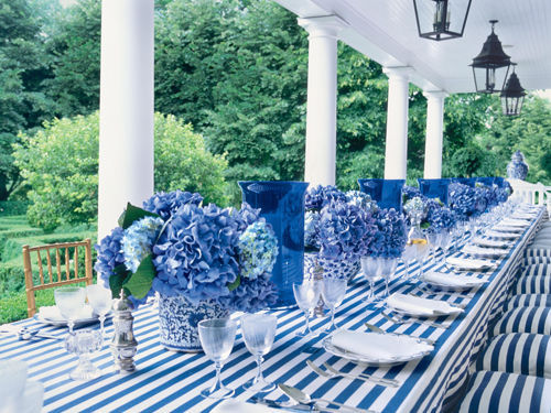 prepologist:  Blue and white table