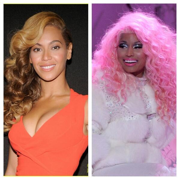 Beyonce, Nicki Minaj - Beyonce VS Nicki Minaj.  RT for Beyonce.  Fav for Nicki.