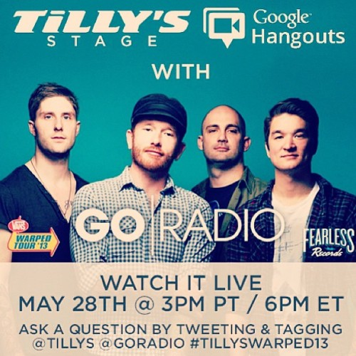 May 28th mark your calendars and come hang out with us live!! #goradio @gojason @alexgoradio @stevengoradio @mattgoradio http://bit.ly/16EA0zs