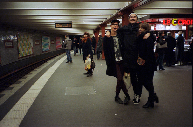 I started to work with film again. Victor, Magnus and Kamilla. Berlin, december 2012.