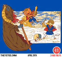 If you liked Ni No Kuni, then probably you will like to visit theyetee where you can find my new design with this homage to chrono trigger and Ni No Kuni. Theyetee
