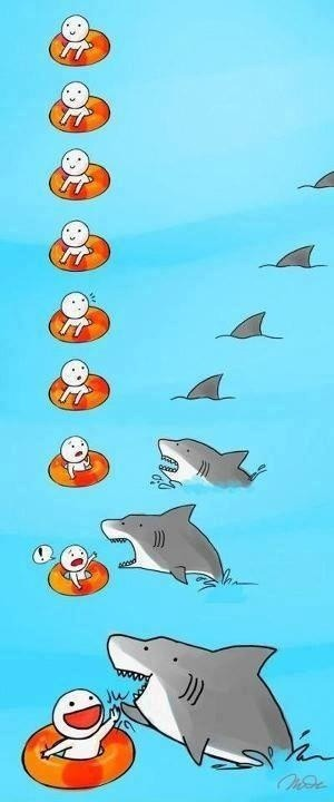 dimitrinesbit:  All sharks want is a high five ok