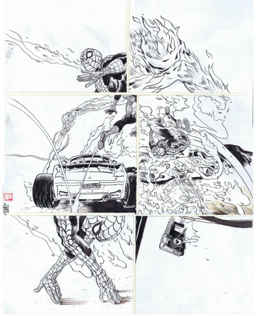 alexhchung:    Spider-Man & The Human Torch by Paul Pope