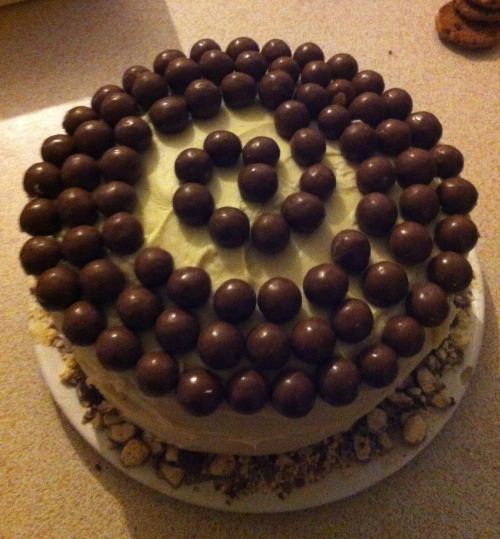 March 2013- Chocolate fudge malteser cake