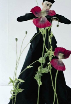 "deauthier:  ""Black and Roses"" Kristen McMenamy by Tim Walker for Vogue Italia October 2012."
