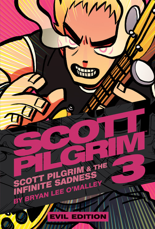 radiomaru:  This went public today so I might as well post it.  Scott Pilgrim Volume 3 EVIL EDITION cover — will debut at TCAF 2013 in May  (info)
