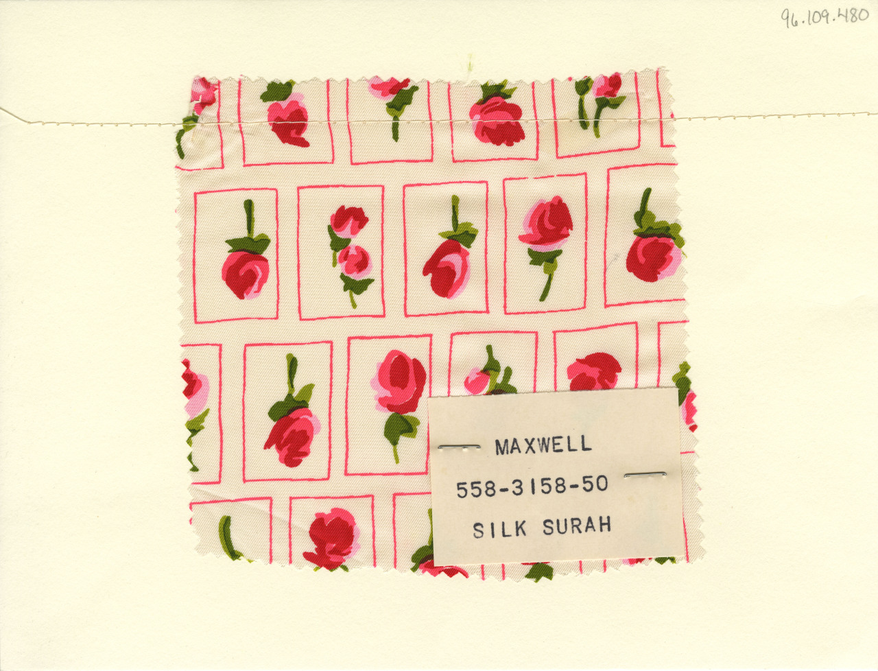 thedesigncenter:  Floral print on silk surah. Maxwell. Mid-20th century.