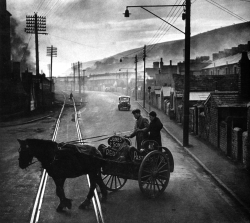 onlyoldphotography:  W. Eugene Smith: A Welsh town. Great Britain, 1950.