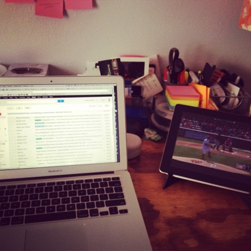 Desk, spring/summer 2013. #baseball #openingday