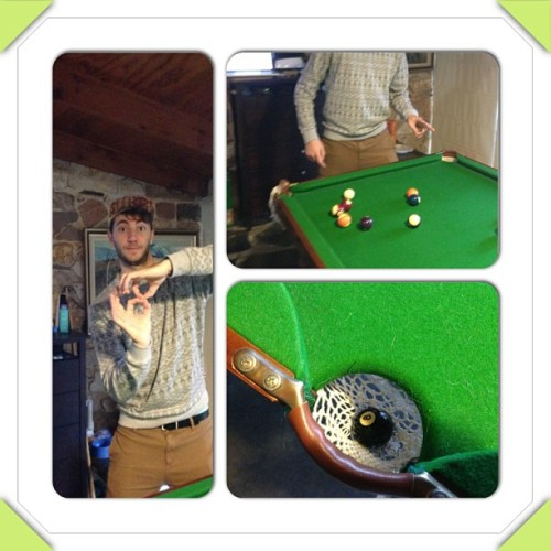 8ball off the break #dontseethateveryday #pantsdownsam