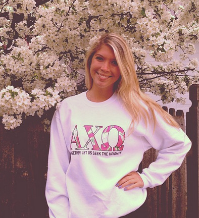sororitysugar:  letter cute ♥   I want this crewneck!!!