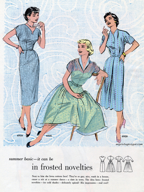 Butterick Pattern Book - Summer 1954