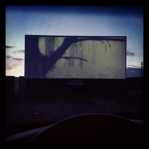 Drive-In double feature. Evil Dead & The Call. Holy. @carissapetty