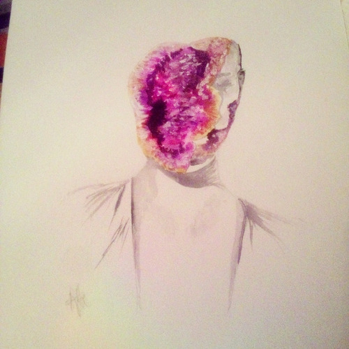 Amethyst; watercolor.