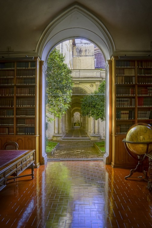 bluepueblo:  Library, Palazzo Spada, Rome, Italy photo via tone