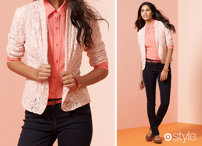 Love Alert: The Lace Blazer Lets you have the strong tailored silhouette of menswear while still being a lovely lady. own it now: lace blazer.