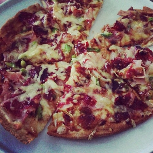 Homemade and Delicious #pizza #yum #cheese #food