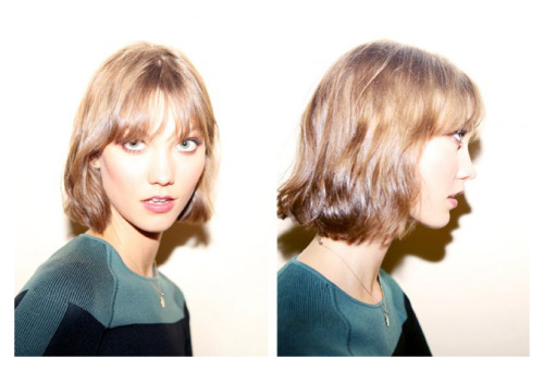 Karlie bangs.  Right after the chop.