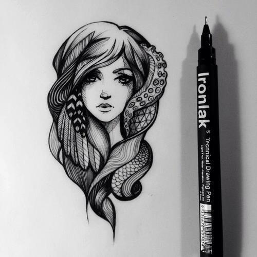 cool drawing nice beautiful girl drawing