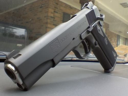 Rock Island Armory 1911 These 1911's have their parts made in the Philippines and are assembled and sold in the U.S by Armscor. The RIA 1911's are budget friendly and make for a good platform to start a custom build on. Most of the bias and hate for the product is usually brand name elitism. You can choose to spend $600 on an RIA 1911 and slowly customize it or you can spend $2,000 or more on higher end brand name 1911's. I remember seeing a Kimber 1911 for $7,500…fuck that shit.