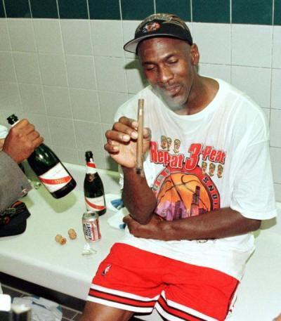 hiphopfightsback:  Face it, Michael Jordan has more OG swag than anyone.  I'm gonna start collecting beer cans now, cause in 30 years that shit'll look crazy as fuck!