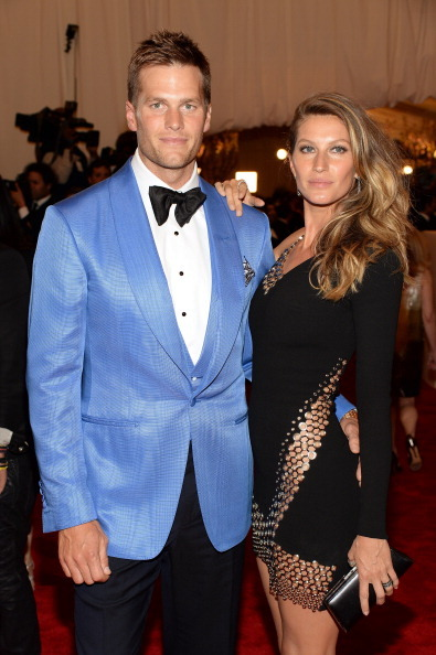 derriuspierre2:  Tom Brady and Gisele Bundchen attend the Costume Institute Gala for the 'PUNK: Chaos to Couture' exhibition at the Metropolitan Museum of Art on May 6, 2013 in New York City.