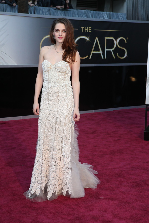 The Oscars Red Carpet 2013: Kristen Stewart [update] in Reem Acra. Photo: New York Times.