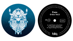 "Artwork for Exos - Q-box Vol.2 / Bliq007 / 12"" Labels / 2013 A1. Exos - Spællt (Exos vs Ruxpin Remix)A2. Exos - Downdiver (DNH Remix)B1. Exos - Gegnum Skráargat (Thor Remix)"