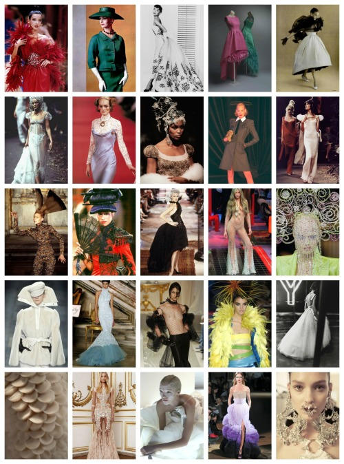 Givenchy by: Hubert de Givenchy (first row) 1952-1995 John Galliano (second row) 1996 Alexander McQueen (third row) 1997-2001 Julien Macdonald (fourth row) 2001-2004 Riccardo Tisci (fifth row) 2005-present