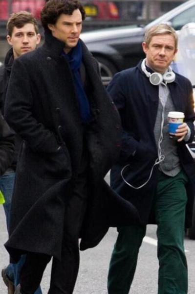 becks28nz:  Ben and Martin - Sherlock Filming