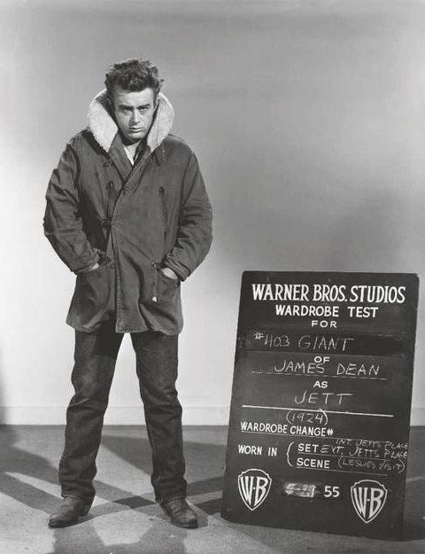 vintagechampagnefever:  James Dean in a wardrobe test for Giant  My favourite look of his from this movie