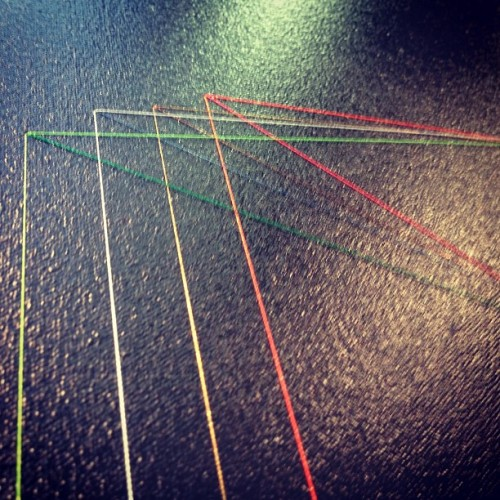 #casualrainbow string detail of another rad frank amerlaan piece. (at The Armory Show)