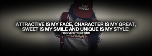 Attractive Is My Face Quote Facebook Cover