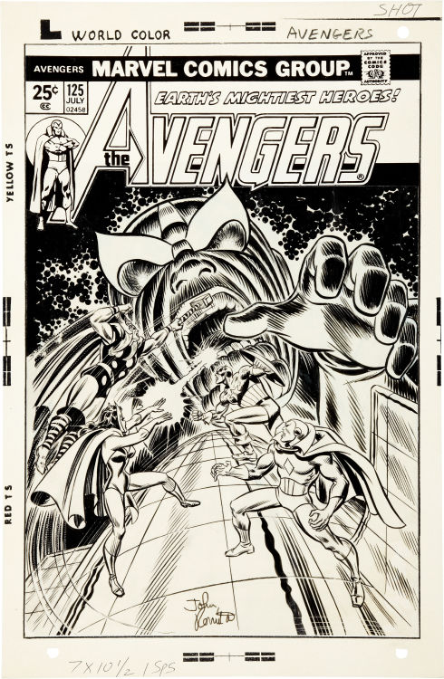 The cover to AVENGERS #125 by Ron Wilson and John Romita