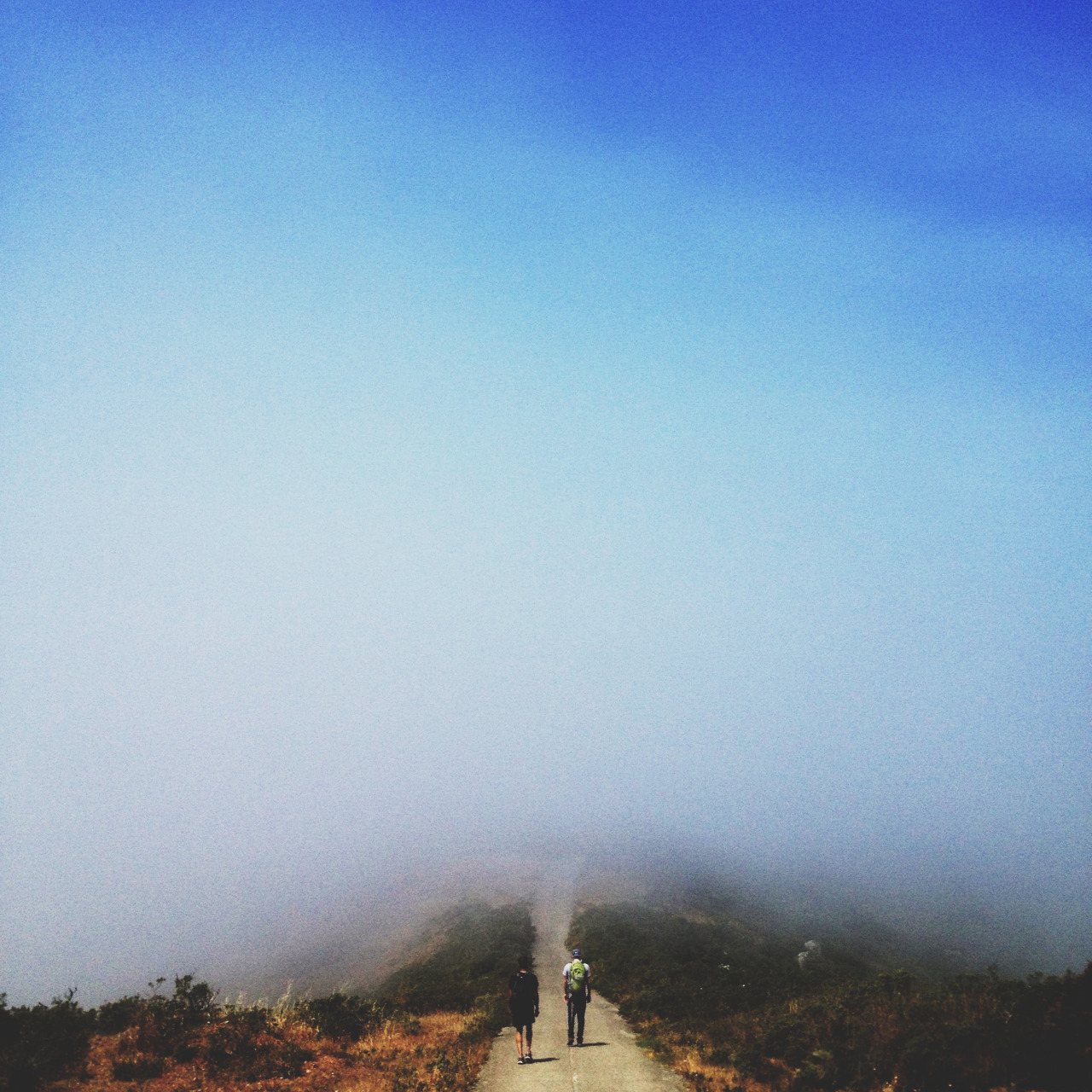 julianbialowas:  Hiking into the fog.