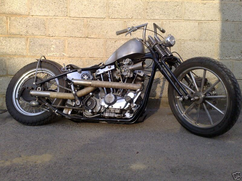This is Nutrocker Pete, one of QCB's UK based Sportster Chopping Bastards!  jdkickstart:  1979 Harley Davidson Ironhead
